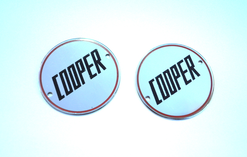Cooper Wheel Badges