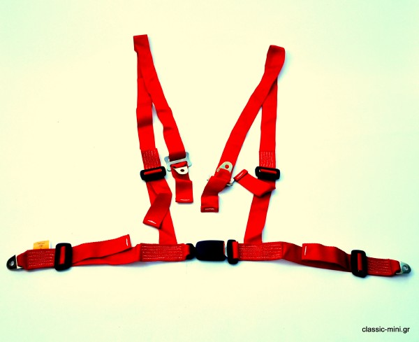 4-Point Front Security Belt Red