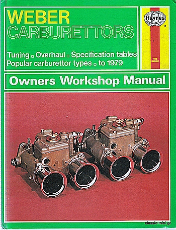 "BOOK ""WEBER CARBURATOR"""